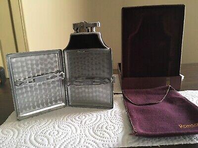 Vintage RONSON Art Deco Mastercase lighter and cigarette case
