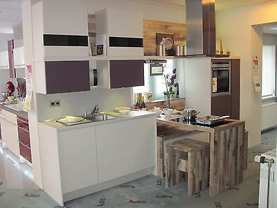 Küche Kochgeräte (Hochwertige Ausstellungsküche Alnostar-Fine Musterküche m. Kochtisch ohne Geräte)