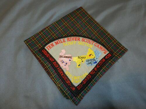 "VINTAGE ""RARE"" TEN MILE RIVER SCOUT CAMP NECKERCHIEF -- CAMP STILLWATER STAFF"