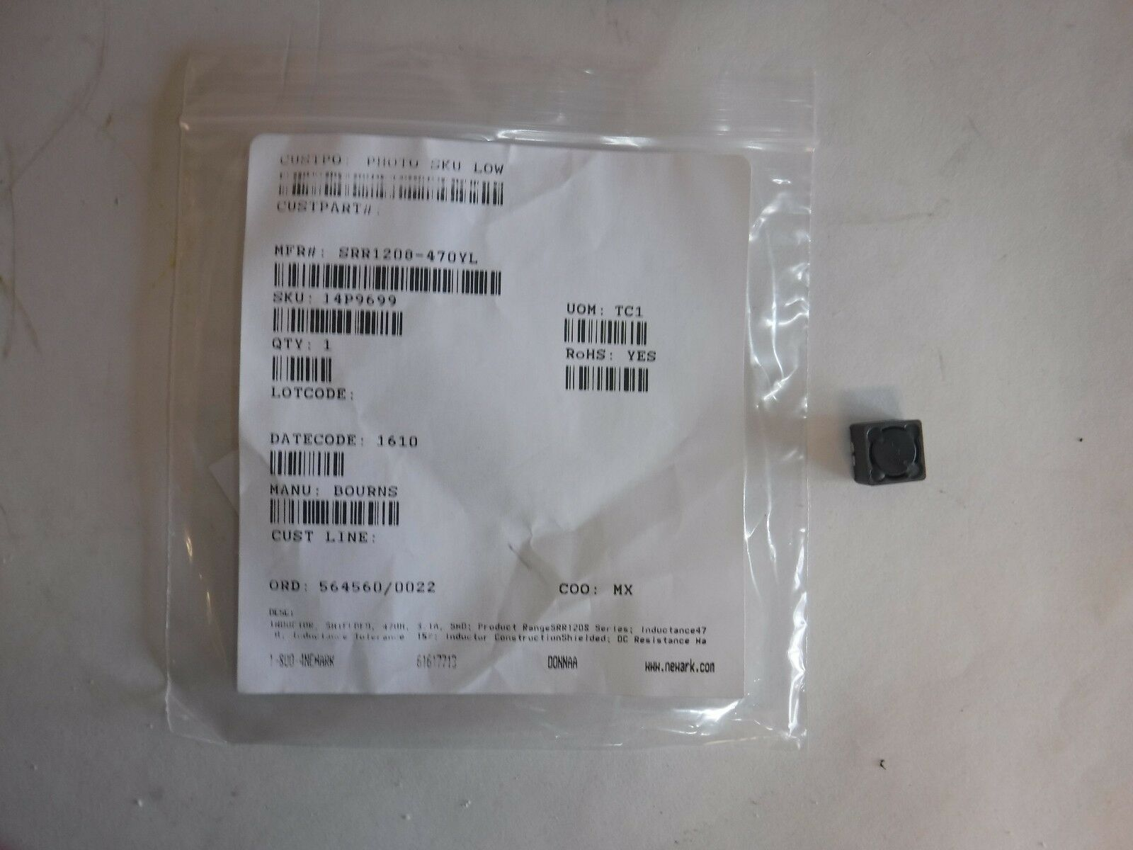 NEW BOURNS SRR1208-470YL Surface Mount Power Inductor (T)
