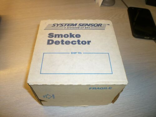 System Sensor 2412THB Photoelectric Smoke Detector - NEW