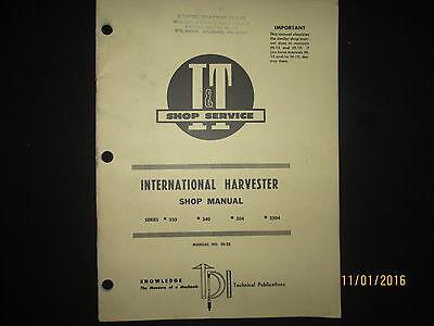 International Harvester Tractors Series 330-2504 It Shop Service Repair Manual