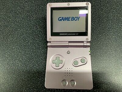 Nintendo Gameboy Advance SP GBA Game Boy Console Metallic Pink Handheld Retro