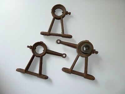 Antique Hit Miss Engine Machine Shop Line Shaft Carrier Bearing Hanger Holders