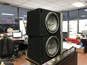 Two 12 inch MTX AUDIO SUBS