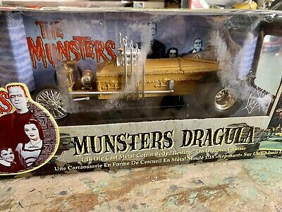 Ertl American Muscle Joyride Munsters Dragula GOLD LE 1:18 Diecast in Box