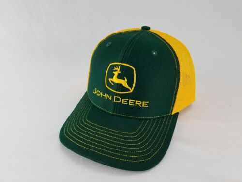 JOHN DEERE *GREEN & YELLOW* Twill Mesh CAP HAT *BRAND NEW* RICHARDSON 112 3D