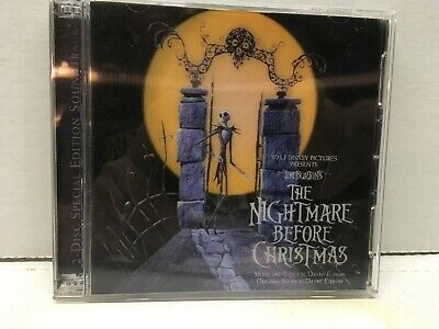 Disney The Nightmare Before Christmas Soundtrack 2 CD Limited Edition 3D Cover](Halloween Before Christmas Soundtrack)