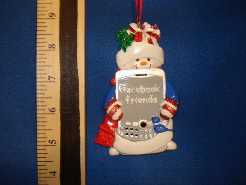 Facebook Ornament Friends Snowman AW701 106