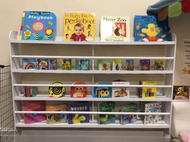 Wall Bookshelf Bookcase Kids Children Books Shelf Storage Playroom Bedroom  Rack