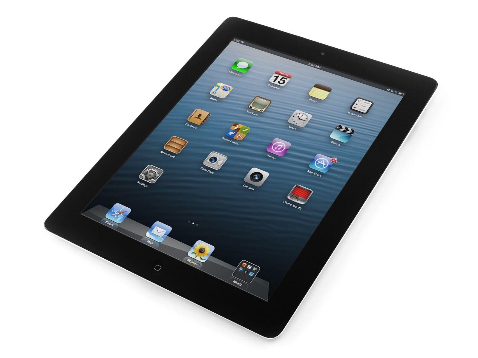 """Apple iPad 4th Gen 32GB Wi-Fi+4G 9.7"""" BLACK RETINA DISPLAY Warranty Apple Care"""