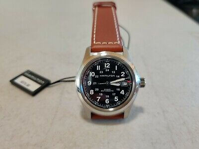Hamilton Khaki Field Automatic Leather Strap Watch 38mm - Brown/Black/Silver
