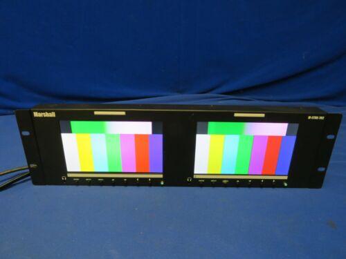 "Marshall M-LYNX-702 Dual 7"" HDMI, 3G-SDI Rackmount Monitor -NO power supply"