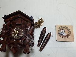 Sternreiter BIRD AND LEAF Model 1200 Black Forest Mechanical Cuckoo Clock