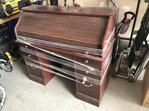 Bureau de type secrétaire en chêne wooden secretary desk