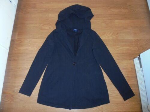 Gap Maternity trendy black hooded casual fall jacket blazer size XS
