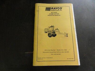 Rayco Rg1635d Stump Cutter Operator Manual