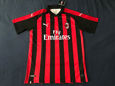 AC Milan Soccer Jersey 2018/2019 Collar Shirt Italy Large