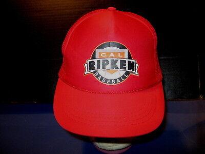 61f10460c49 CAL RIPKEN BASEBALL Vintage Red Mesh Baseball SNAPBACK Hat NEW! Youth  Adjustable