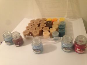 27 Votive Candles  With Various Fragrances + 4 Mini Jar Candle