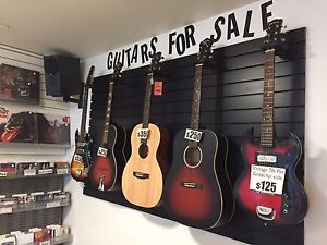 Guitars for sale at New Scotland Yard!