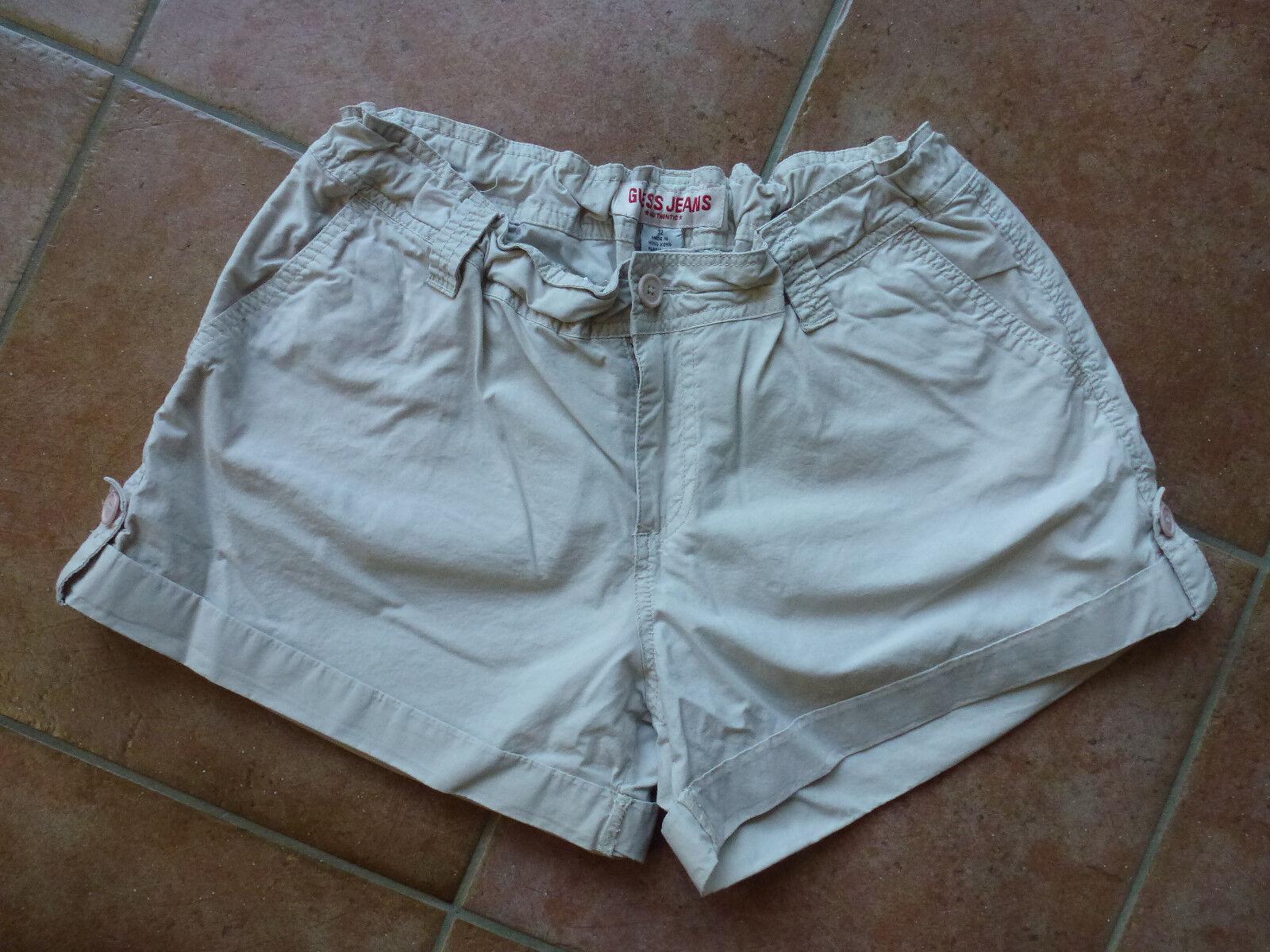 Kurze GUESS Damen-Jeans-Hose beige Größe US 32