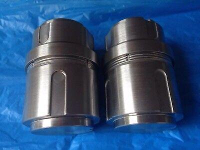 2 Grinding Jars For Retsch Mm 400 Mm400 Qiagen Tissuelyser Ii Mill Mixer Balls