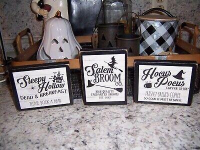 Halloween Sleepy Hollow (Mini set Hocus Pocus Sleepy Hollow Halloween signs Coffee bar tray)