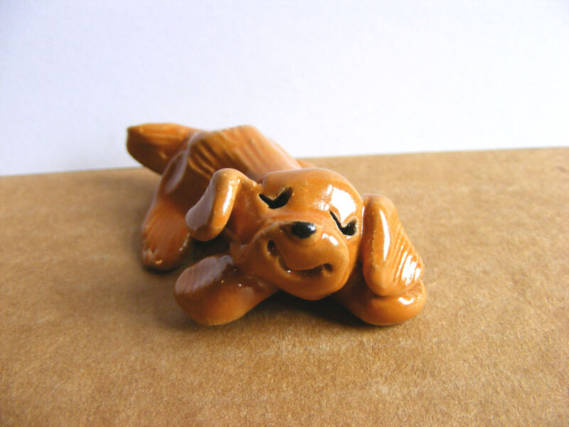 Little Guys Retired Dog Snoozer Miniature Animal Figurine Cindy Pacileo
