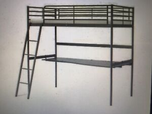 Free 'high sleeper' bed with built in desk underneath