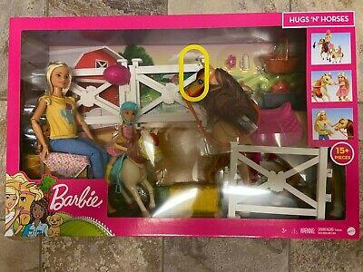 Barbie Hugs 'N' Horses Playset with Barbie & Chelsea Blonde Dolls