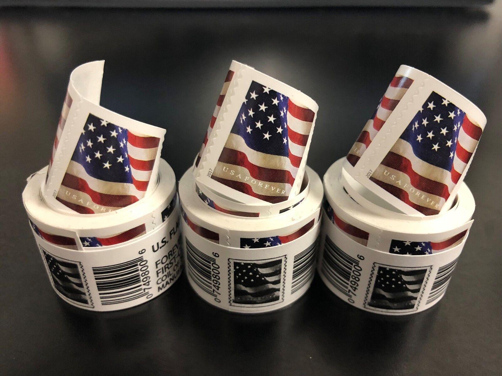 Купить USPS- US Flag 3 coils of 100 (300 FOREVER Stamps) $150 value