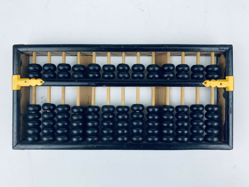 Vintage Lotus Flower Brand Abacus 13 Rungs 91 Beads People