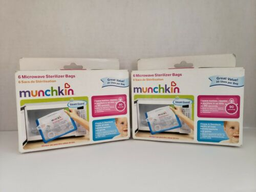 MUNCHKIN MICROWAVE STERILIZER BAGS - 12 Pack - NEW