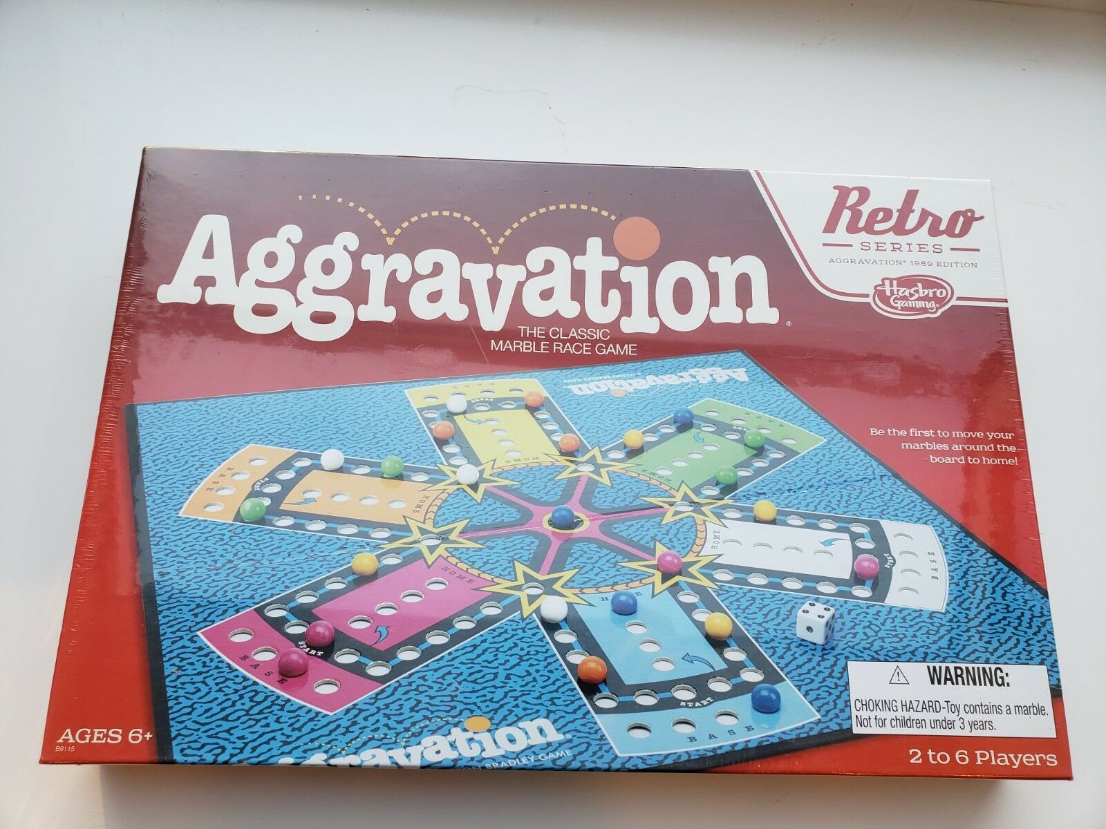 Hasbro Retro Series Aggravation Board Game 1989 Edition