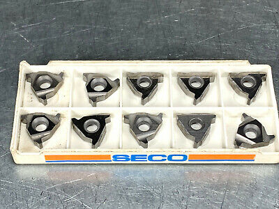 Seco 16nr 8 Acme S25m Carbide Insert Threading Pack Of 10