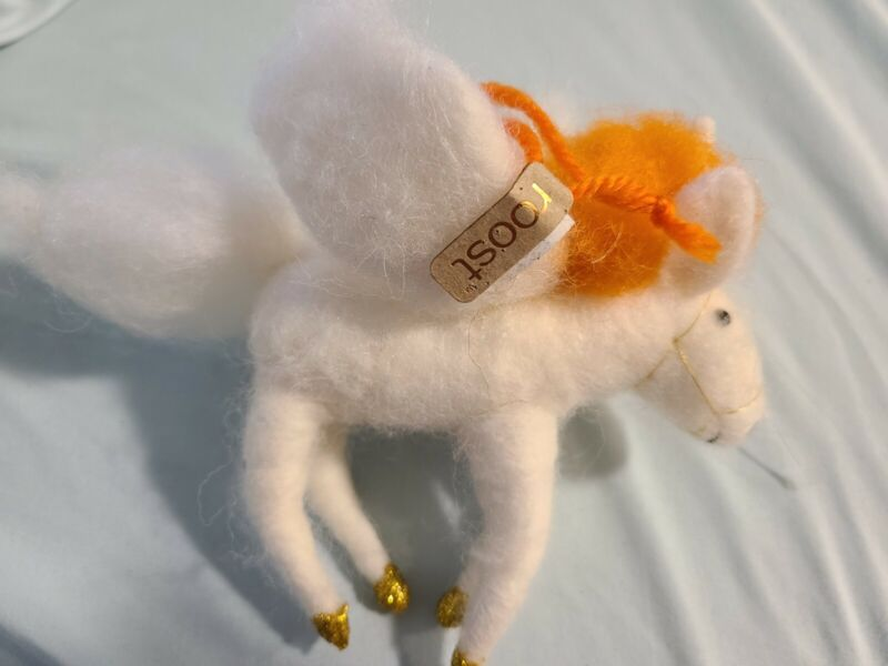 Needle Felted Pegasus By Roost Ornament