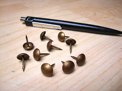 Polsternägel Ziernägel Messing  Ø 10,5 mm x 12 mm Antik Nägel