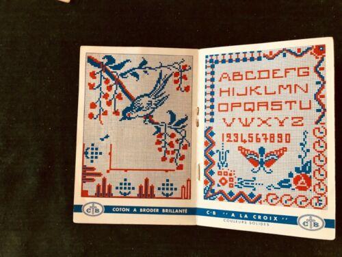 4 French Antique Alphabet & Motif Pattern Books