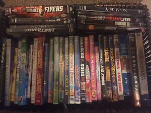 120 DVDs blue rays  and 8 VHS make offer