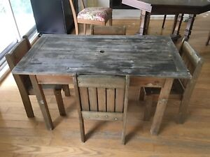 Childrens Solid Wood Patio Table w/Chairs