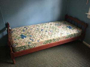 Wooden single bed frame in good condition Macquarie Fields Campbelltown Area Preview