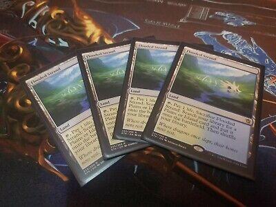 4x Flooded Strand (KTK) Khans of Tarkir - MTG Magic The Gathering Fetch Lands