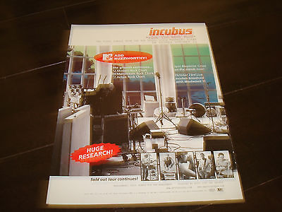 """INCUBUS 2001 ad for hit """"Wish You Were Here"""" Brandon Boyd, Mike Einziger"""