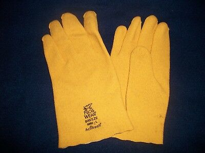 Frog Wear Industrial Work Gloves Large - Breathable Yellow Pvc - Global Gloves