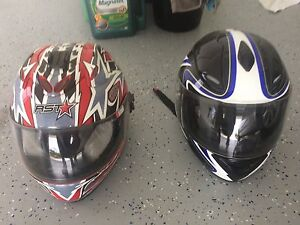 Two Motorcycle Helmets Dayboro Pine Rivers Area Preview