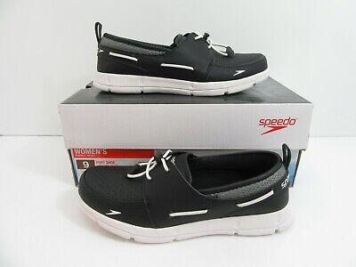 d6fe8d6bd5c9 Women s Speedo Port Water Shoes Black Grey White Size 9