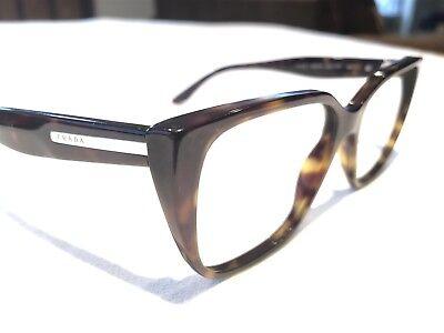 Prada Journal VPR08T 2AU-1O1 Men's Tortoise Rx Hipster Eyeglasses Frames 53/16
