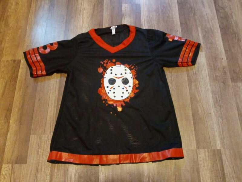Official Friday The 13th Jason Voorhees Halloween Bloody Jersey Adult Sz  Large