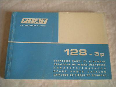 Vintage original factory parts catalogue Fiat 128 3 door 1975 1st edition